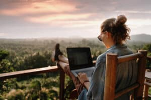 work from a computer anywhere in the world